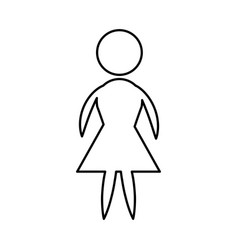 icon pictogram woman female vector image vector image
