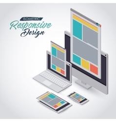 isometric responsive icon design vector image