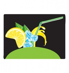 juice splashes vector image