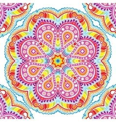 Kaleidoscopic floral pattern mandala vector