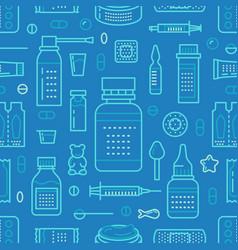 Medical drugstore seamless pattern pharmacy vector