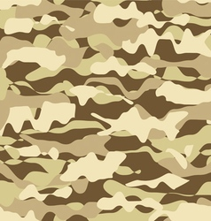 Military beige desert fashion seamless pattern vector image