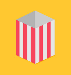 popcorn red yellow strip square empty paper box vector image