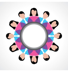 round people global discussion concept vector image vector image