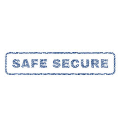 safe secure textile stamp vector image vector image