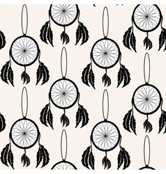 Seamless pattern with decorative dream catchers vector