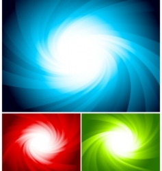 set of colorful swirl background vector image vector image