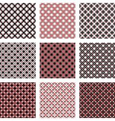 Set of design seamless colorful diagonal patterns vector