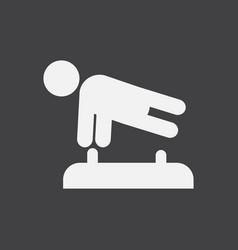 Shows a gymnast performing acrobatic movements vector