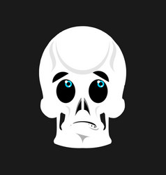 skull surprised emoji skeleton head astonished vector image vector image