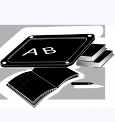 slate and book vector image vector image