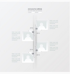 Timeline white color vector