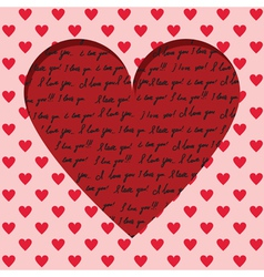 valentine card with handwritten vector image vector image