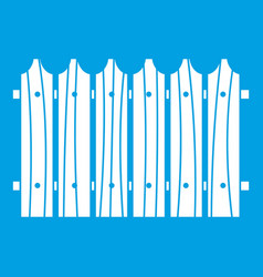 Wooden fence icon white vector
