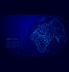 world map point line glow vector image