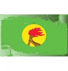 Zaire national flag vector