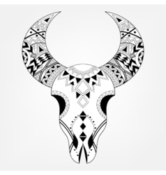 Zentangle animal Skull vector image
