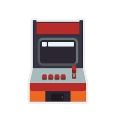 Machine old pixel video game play icon vector