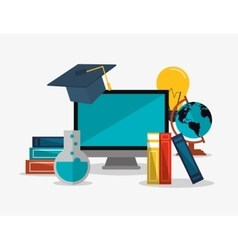 education and earth globe with academia related vector image