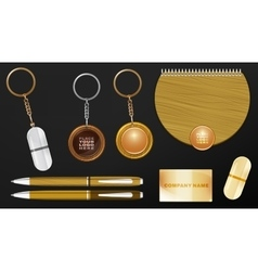 Wooden promo set 04 a vector