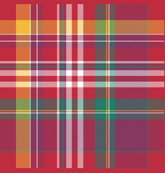 Pink plaid tartan seamless pattern vector