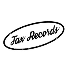 Tax records rubber stamp vector