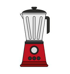 Color image cartoon electronic device red blender vector