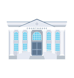 Courthouse flat building icon vector