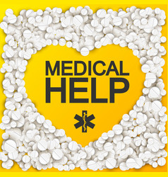 Medical help background vector