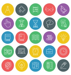 School and education icons set for web site design vector