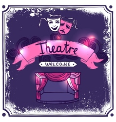 Theater poster sketch vector