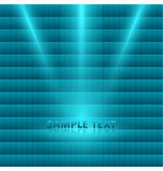 Bright light spotlight turquoise mosaic background vector