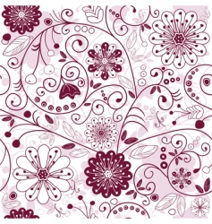 Whitepurple seamless floral pattern vector