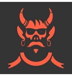 Symbol skull with horns vector