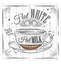 Poster flat white vector image