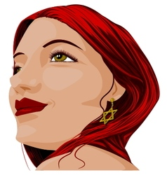 Beautiful portrait vector