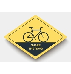 Icon share the road and shadow vector