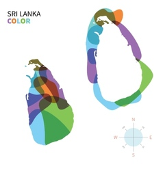 Abstract color map of Sri Lanka vector image vector image
