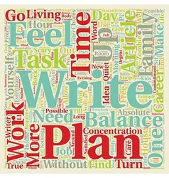 Balance your life text background wordcloud vector