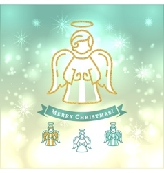 Christmas angel icon xmas vintage elegant vector