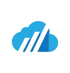 Cloud logo template icon vector image