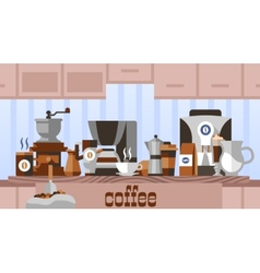 Coffee home concept vector image vector image