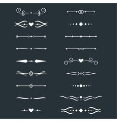 Collection of dividers vector image vector image