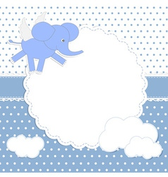 Cute baby boy card vector image