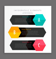 dark three infpgraphics template vector image vector image