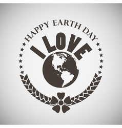 Earth Day Emblem vector image