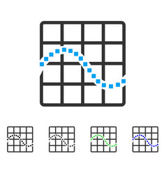 Function chart flat icon vector