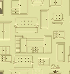 Furniture seamless pattern vector