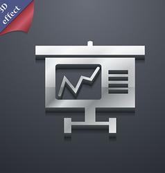 Graph icon symbol 3d style trendy modern design vector