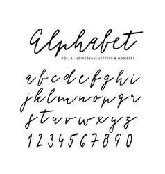 Hand drawn alphabet signature script font vector